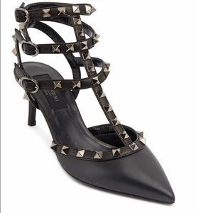 Valentino Rockstud Black Leather Pump, 65mm